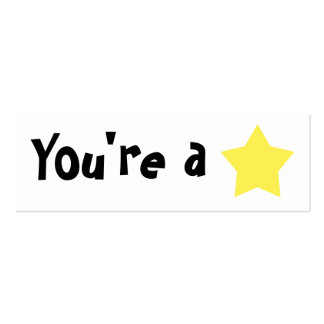 """Customizable """"You're A Star"""" Mini Bookmarker Pack Of Skinny Business Cards"""