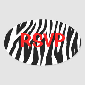 Customizable Zebra Oval Sticker