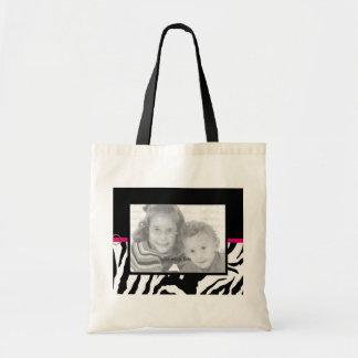 Customizable Zebra Print Photo Template Bag