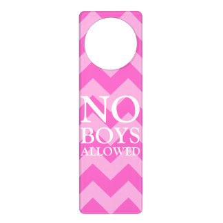Customizable Zigzag Pattern No Boys Allowed Door Hanger