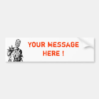 Customizable Zombie Bumper Sticker