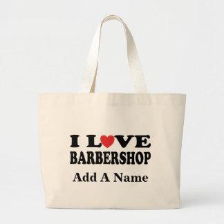 Customize A Barbershop Music Tote Bag