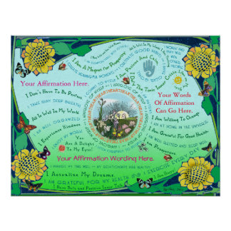 Customize a Sunrise Garden Affirmation Poster