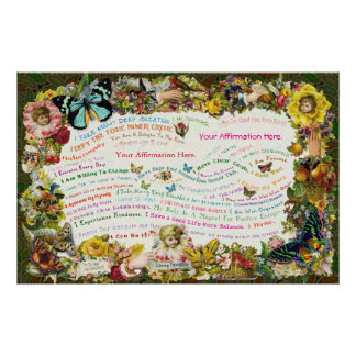 Customize an Antique Affirmation Poster