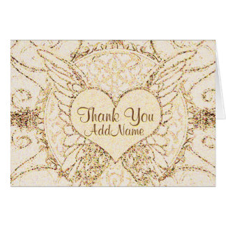 Customize Angel Wings and Heart Card