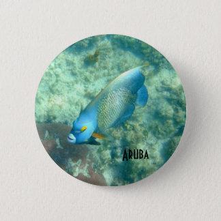 Customize Aruba Underwater photo of Fish 6 Cm Round Badge