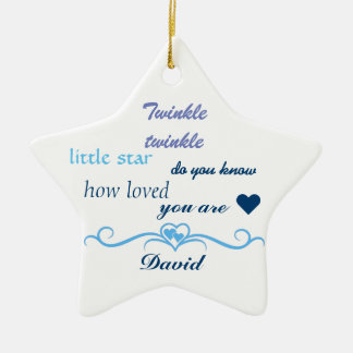 Customize, Baby Boy Star. Christmas Ornament