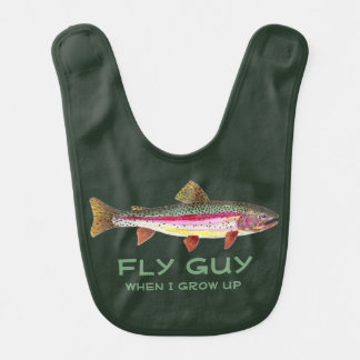 Customize Baby Fly Fishing Brook Trout Bib