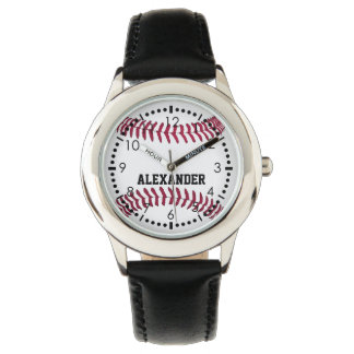 Customize Baseball Name Watch