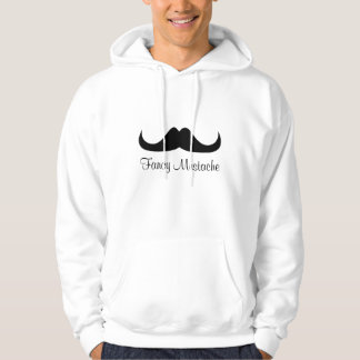 Customize Black fancy mustache White hoodie