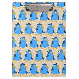 Customize Blue Birds Clipboard