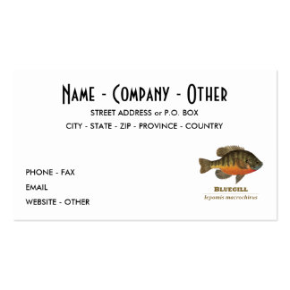 Customize Bluegill, Bream Pack Of Standard Business Cards