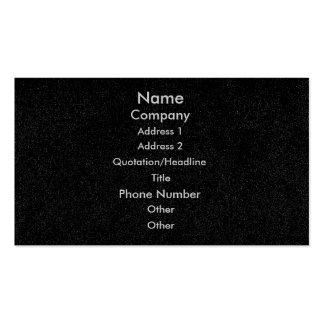 Customize business cards, black speckled denim pack of standard business cards