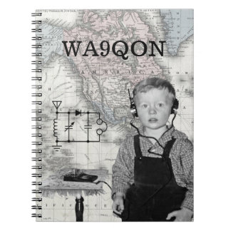 Customize Call Letters Radio Boy Spiral Notebook