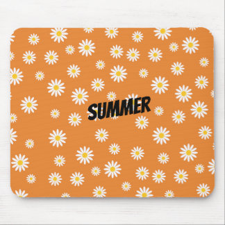 Customize Camomile Flowers Mouse Mat