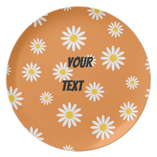 Customize Camomile Flowers Party Plate