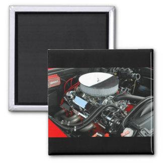 Customize Car Engine Square Magnet