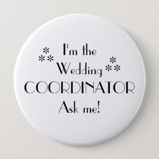 Customize Color-Wedding Coordinator 10 Cm Round Badge