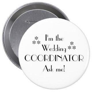 Customize Color-Wedding Coordinator 10 Cm Round Badge