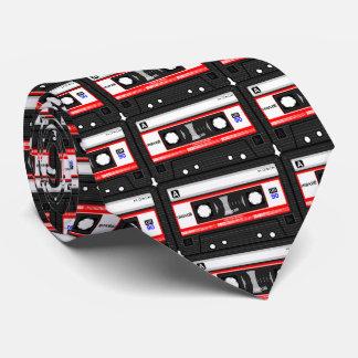 Customize Colorful Vintage Cassette Pattern Design Tie