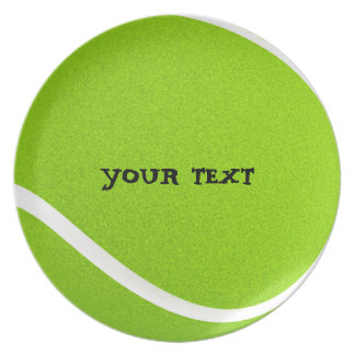 Customize Cool Tennis Ball Party Plate