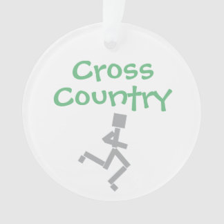 Customize Cross Country Running Ornament