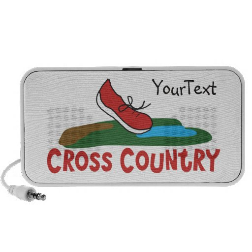 Customize - Cross Country Running Notebook Speakers