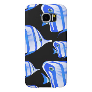 Customize Cute Blue Fishes Samsung Galaxy S6 Cases