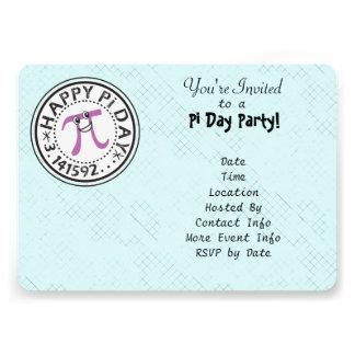 Customize - Cute Happy Pi Day Party Custom Invitation