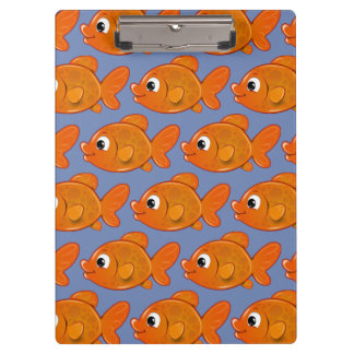 Customize Cute Orange Fish Clipboard