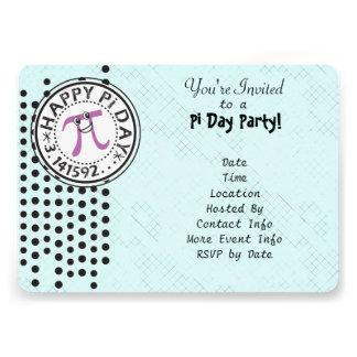 Customize - Cute Polka Dot Happy Pi Day Party Custom Invitation