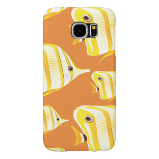 Customize Cute Yellow Fish Samsung Galaxy S6 Cases