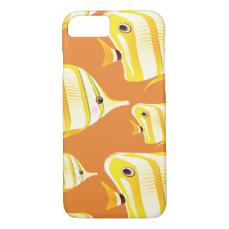 Customize Cute Yellow Fishes iPhone 8/7 Case