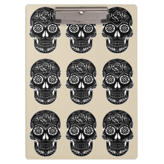 Customize Day of the dead boardTie by storeman Clipboard
