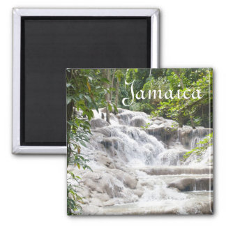 Customize Dunn's River Falls photo Square Magnet