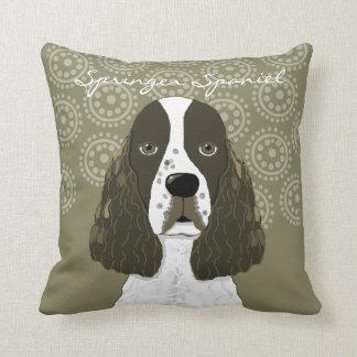 Customize English Springer Spaniel in Brown White Cushion