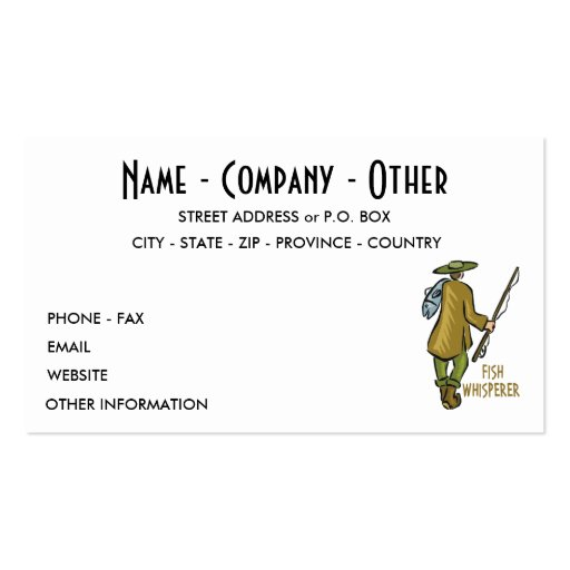 Customize Fly Fishing Business Card Template