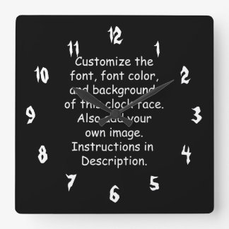 Customize Font, Font Color, Background, Image Wall Clock
