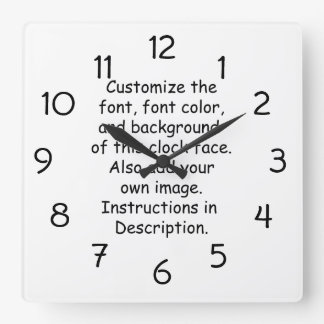 Customize Font Font Color Background Image Round Clocks