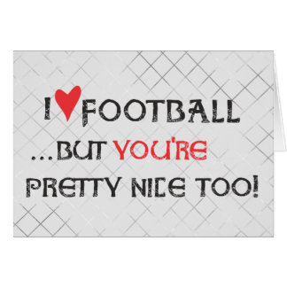 Customize Football Card - I heart (love) Football