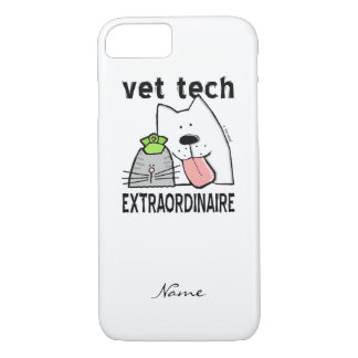 Customize Fun Vet Tech Extraordinaire iPhone 8/7 Case