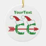 CUSTOMIZE Funny Christmas © Cross Country 1-sided Round Ceramic Decoration