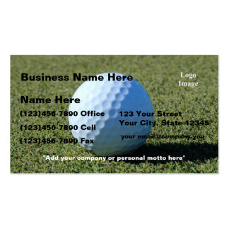 (Customize) Golf Ball on Green close-up Pack Of Standard Business Cards