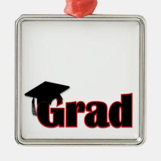 Customize Grad Design in Red Christmas Ornament