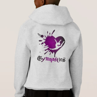 Customize Heart Splat Gymnastics Shirt Hoodie