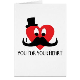 Customize I mustache you for your heart Greeting Card