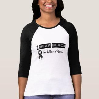 Customize I Wear Black Ribbon Skin Cancer Shirt