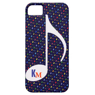 customize initials musical note iPhone 5 cover