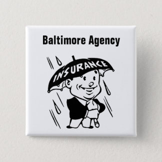 Customize Insurance Agent or Agency 15 Cm Square Badge