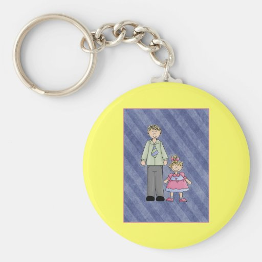 Customize It! Dad and Daughter Keychain